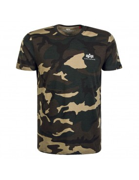 Tričko ALPHA Small logo wdl camo 65