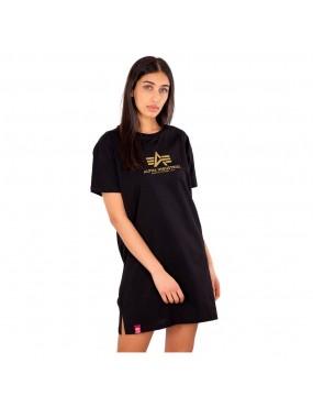 Šaty dámske ALPHA Basic T Long Foil Print