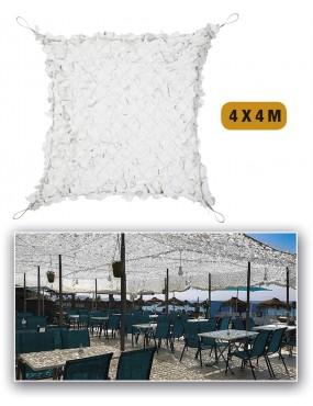 Sieť závesná 4 x 4 m, white
