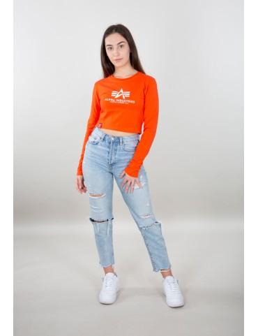 Tričko ALPHA dámske Basic Cropped LS