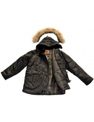 Kabát N3B RTX ALASKA, čierny