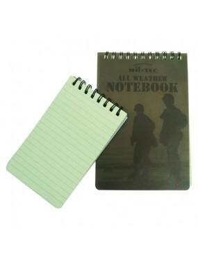 Zápisník/blok vodeodolný