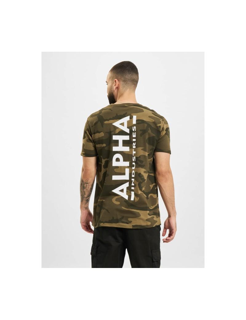 Tričko ALPHA Backprint T camo, olive camo