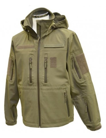 Bunda softshell GURKHA tactical, oliv
