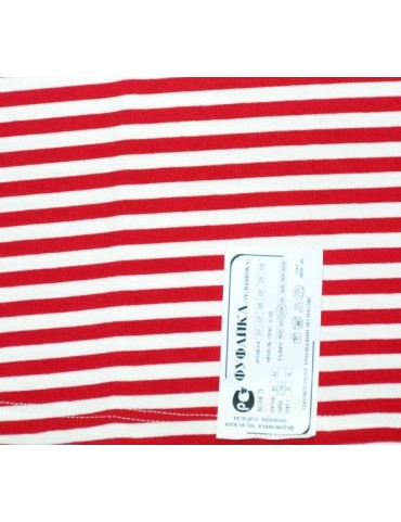 Ruské tričko kr. rukáv, červený prúžok